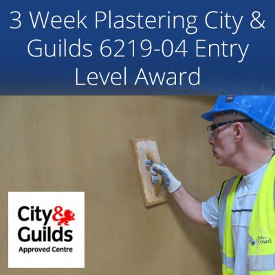 3 week accredited City & Guilds plastering course
