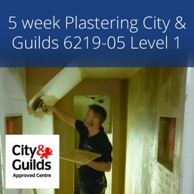 5 week accredited City & Guilds plastering course