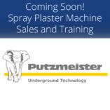 Spray Plaster Machine Sales and Training