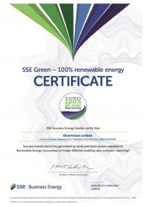 Silver Trowel Limited Green Certificate